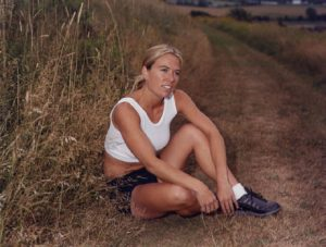 Lori – Business Woman: I wanted to photograph Lori with a typical Island background. We spent more time chatting than shooting. It was almost as if the photo was an afterthought. Lori is wearing the athletic clothing from a line that she designed.
